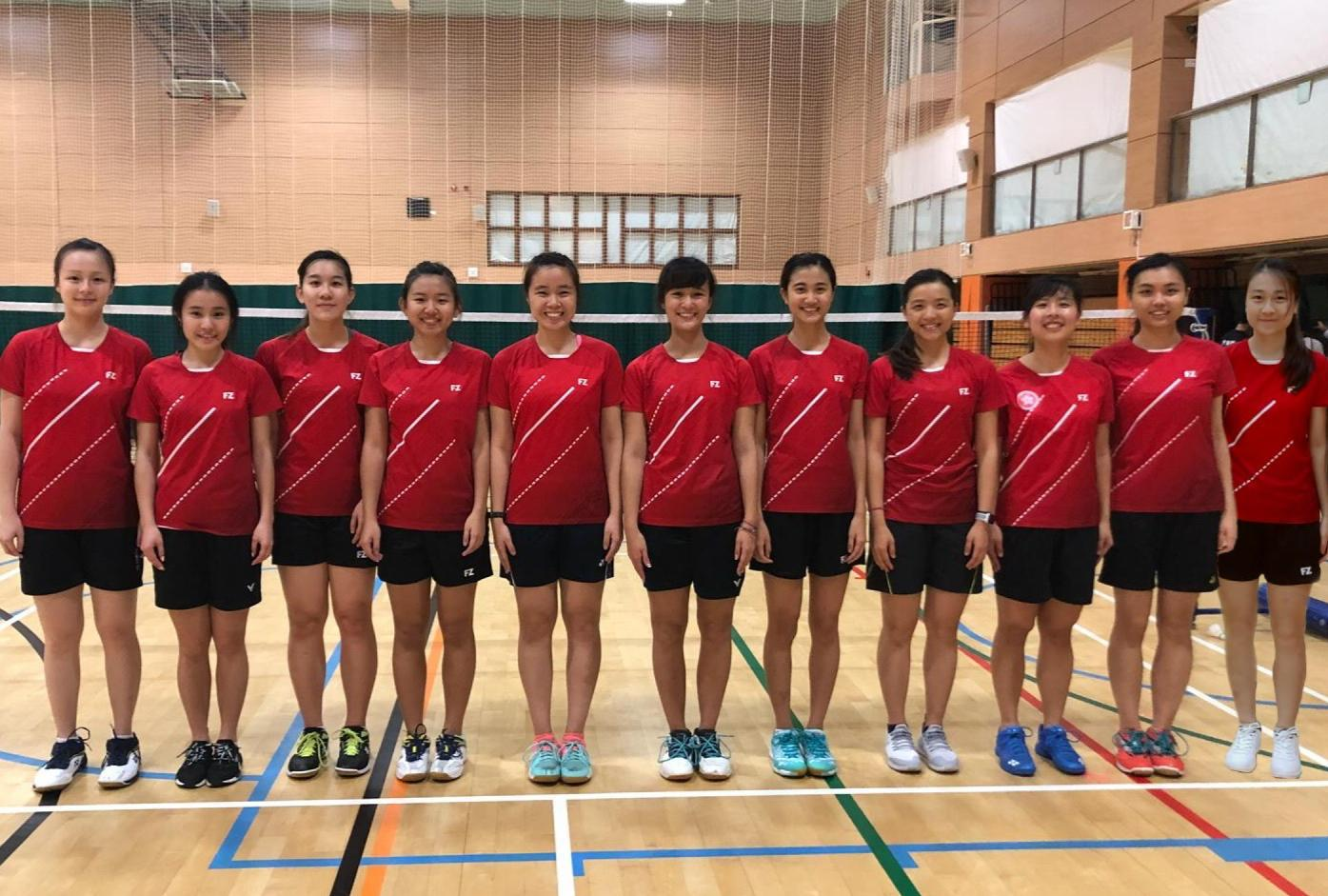 Badminton girls 2018 2019