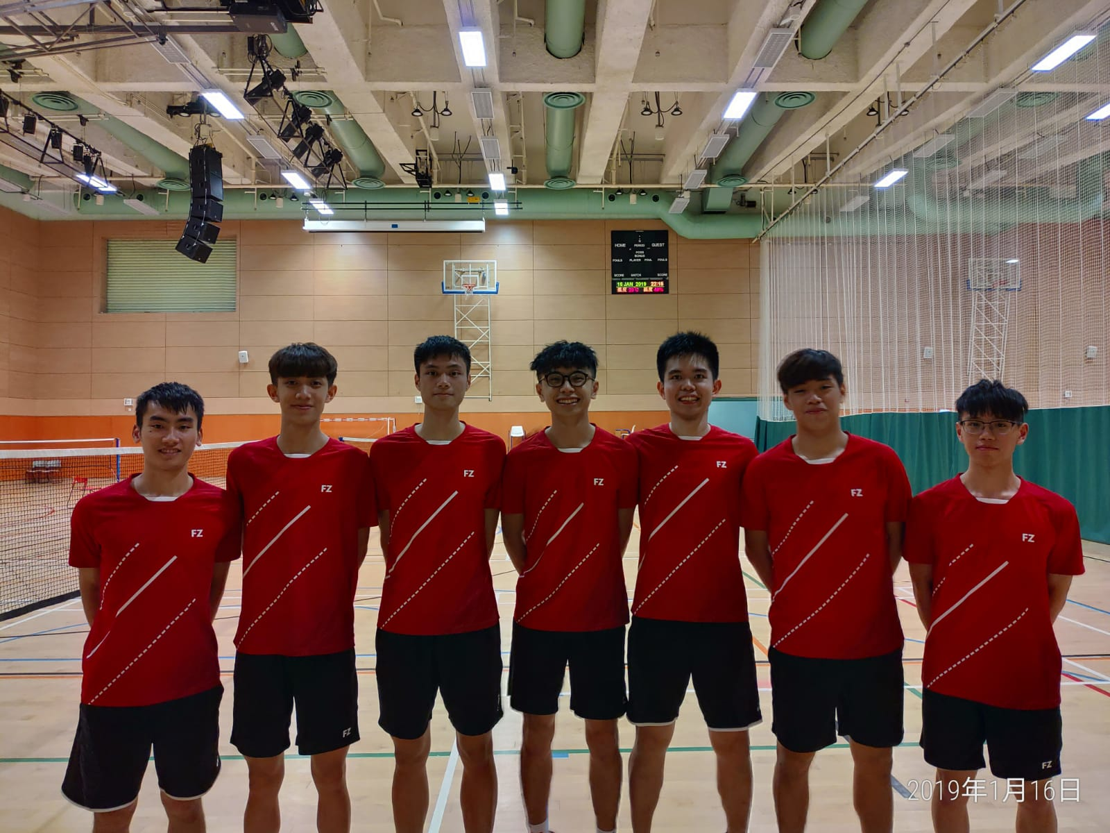 Badminton boys 2018 2019