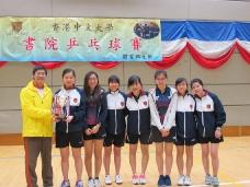 2016年 中文大學書院乒乓球賽